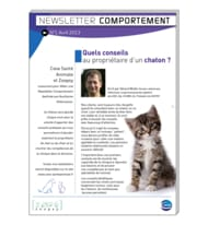 Newsletter comportement n°1 - avril 2013