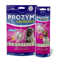 Utilisez les lamelles PROZYM pour entretenir l'hygiène dentaire de votre chien