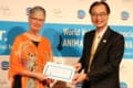 Dr. Alice Crook of Canada with Dr. Johnson Chiang, WVA President